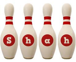 Shah bowling-pin logo