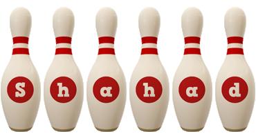 Shahad bowling-pin logo