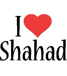 Shahad i-love logo