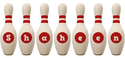 Shaheen bowling-pin logo