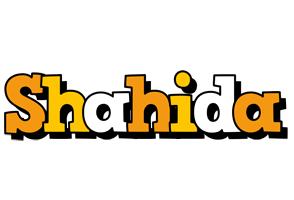 Shahida cartoon logo