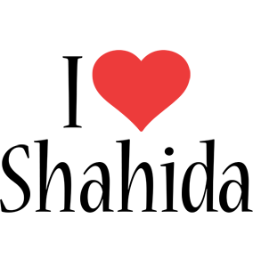 Shahida i-love logo