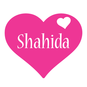 Shahida love-heart logo