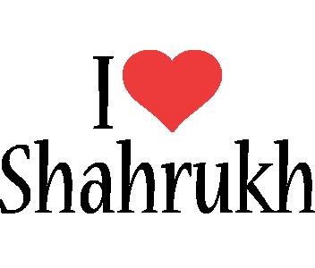 Shahrukh i-love logo