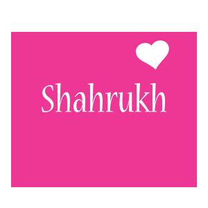 Shahrukh love-heart logo