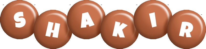 Shakir candy-brown logo