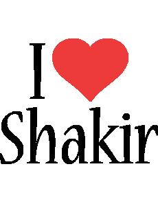 Shakir i-love logo