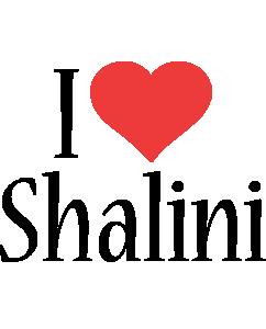 Shalini i-love logo