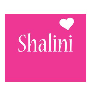 Shalini love-heart logo