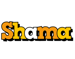 Shama cartoon logo