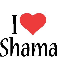 Shama i-love logo