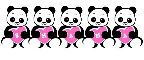 Shama love-panda logo