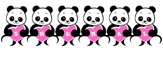Shamal love-panda logo