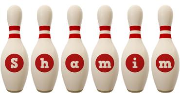 Shamim bowling-pin logo