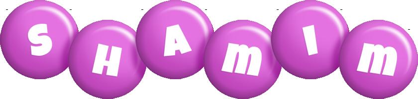 Shamim candy-purple logo