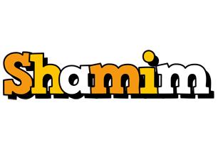 Shamim cartoon logo