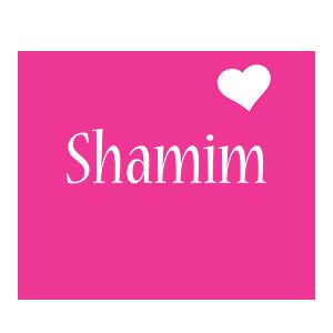 Shamim love-heart logo