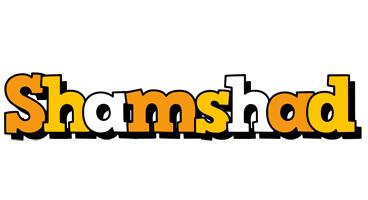 Shamshad cartoon logo