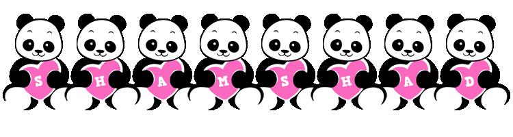 Shamshad love-panda logo