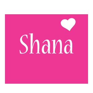 Shana love-heart logo