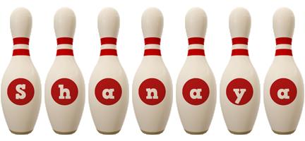 Shanaya bowling-pin logo