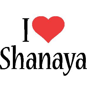 Shanaya i-love logo