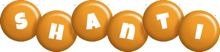 Shanti candy-orange logo