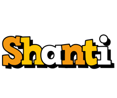 Shanti cartoon logo