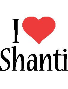 Shanti i-love logo