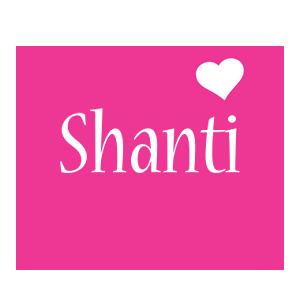 Shanti love-heart logo