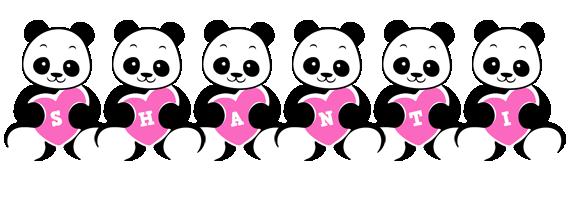 Shanti love-panda logo