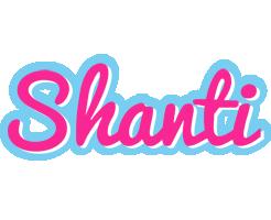 Shanti popstar logo