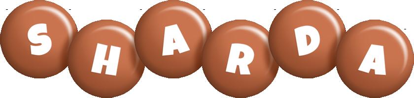 Sharda candy-brown logo