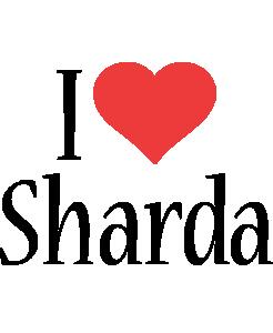 Sharda i-love logo
