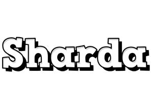 Sharda snowing logo