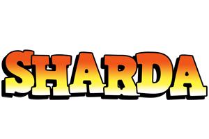 Sharda sunset logo