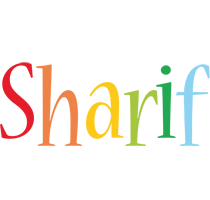 Sharif birthday logo