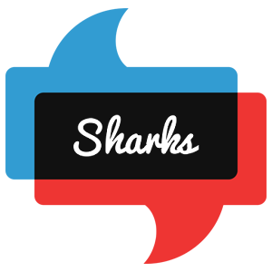 SHARKS logo effect. Colorful text effects in various flavors. Customize your own text here: https://www.textGiraffe.com/logos/sharks/