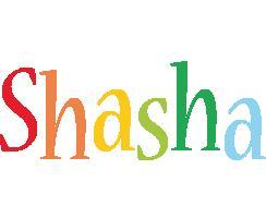 Shasha birthday logo