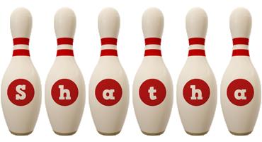Shatha bowling-pin logo