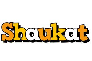 Shaukat cartoon logo