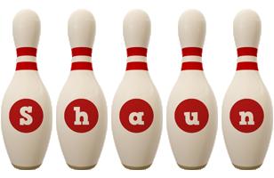 Shaun bowling-pin logo