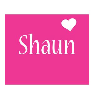 Shaun love-heart logo