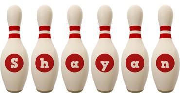 Shayan bowling-pin logo