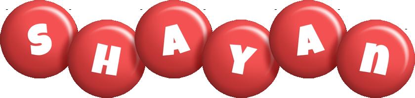 Shayan candy-red logo
