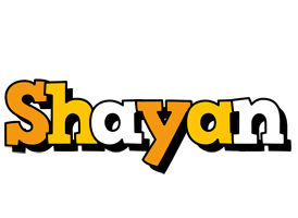 Shayan cartoon logo