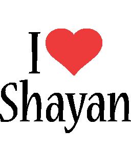 Shayan i-love logo