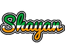 Shayan ireland logo