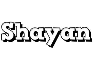 Shayan snowing logo