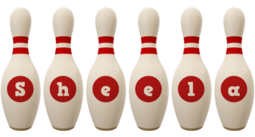 Sheela bowling-pin logo